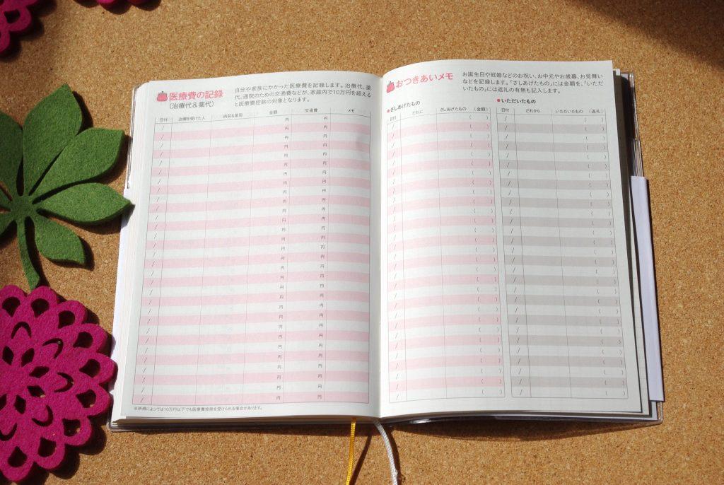 手帳のおまけページ